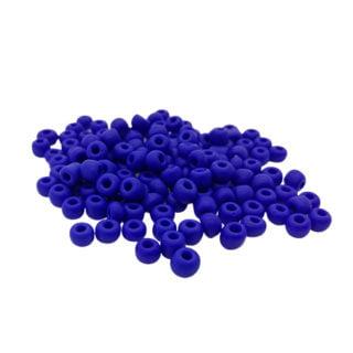 Rocailles kralen glaskraaltjes kobalt blauw 4mm