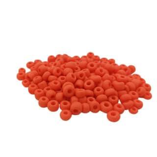 Rocailles glaskralen matte oranje kralen 4mm