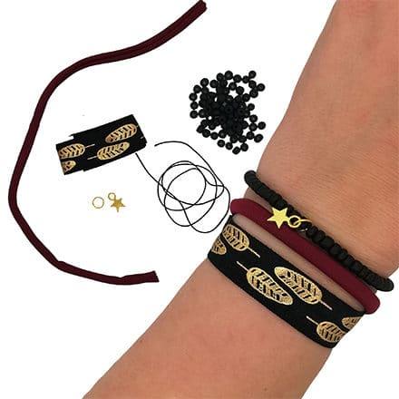 DIY pakket elastische armbandjes zelf maken compleet rocailles