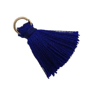 Flosje kobalt blauw gouden ringetje
