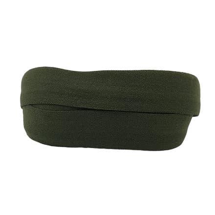 Elastische lint koord mat olijf leger groen 1.5cm breed bias band