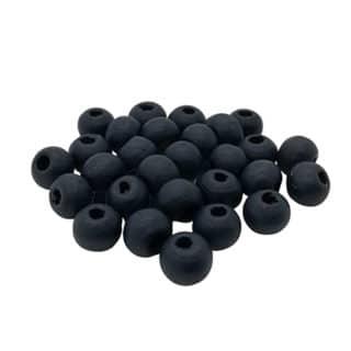 Houten kralen navy blauw rond 6mm klein
