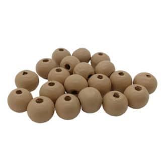 Nougat brown houten kralen 8mm rond