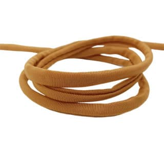 elastiek koord 5mm bruin rond gestikt