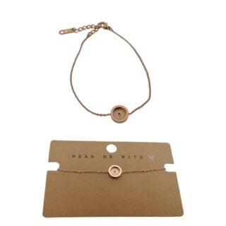 RVS armband rosé goud verstelbaar cabochons setting
