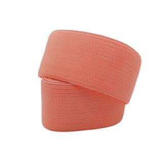 Donker zalm roze elastiek lint 2.5cm breed