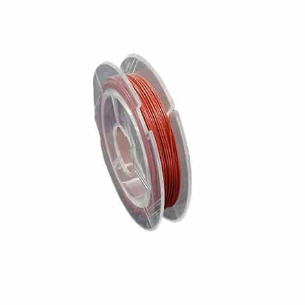 Gecoated staaldraad op rol bruin rood 0.45mm sieraden maken