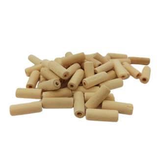 Blank houten staaf kraaltjes tube