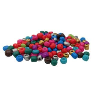Gekleurde rocailles 4mm glaskralen mix kleuren