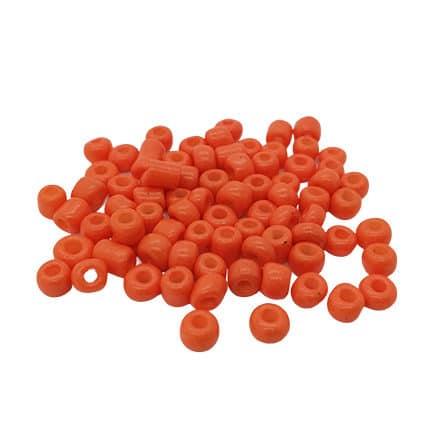 Rocailles oranje glaskraaltjes 4mm