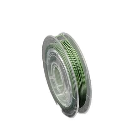Staaldraad groen 0.45mm dun