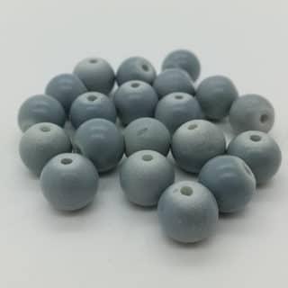 Glaskralen rond 8mm mat cool grijs