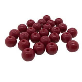 Kraal rond bordeaux rood 8mm rond