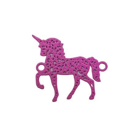 Unicorn tussenzetter roze metalen link