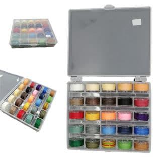 Rolletjes waxkoord set alle kleuren doosje bewaren