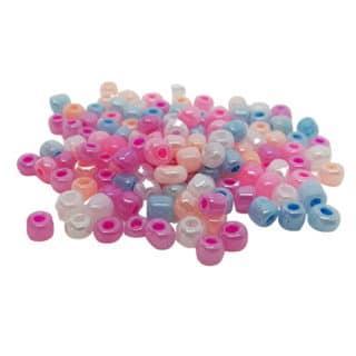 Rocailles glaskralen 4mm klein ab olie color pastel mix