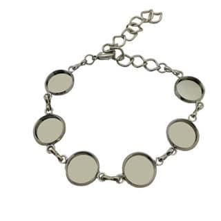Armband zilver cabochons setting tussenstukken zilver