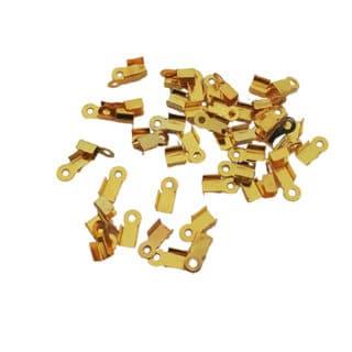 Veterklemmen goud metaal 6mm klein