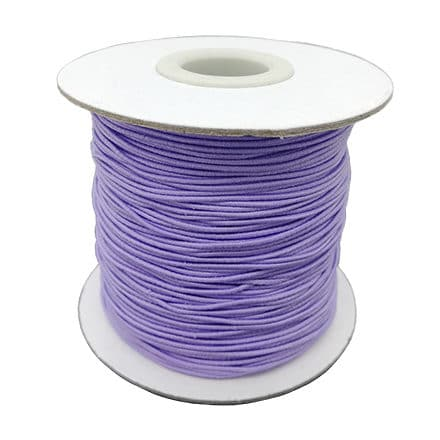 Elastisch sieraden draad elastiek lavendel lila 0.8mm
