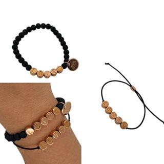 DIY pakket love armbandje elastiek rosé goud