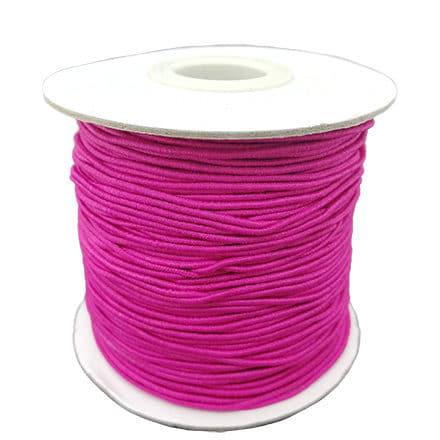 Rolletje elastisch draad 1mm kers roze elastiek