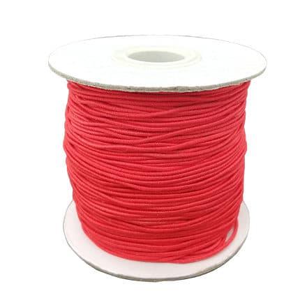 Rolletje elastisch sieraden koord 1mm rood