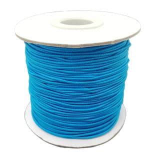 Rolletje elastisch draad 1mm aqua blauw elastiek