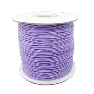 Rol elastische sieraden koord 1mm lavendel paars