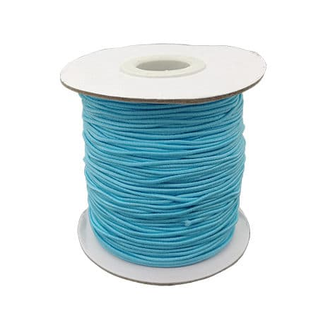 Rol elastisch draad sieraden maken 1mm lichtblauw
