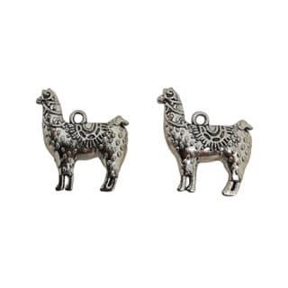 Alpaca lama bedel zilverkleurig
