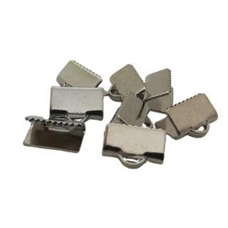 Veterklemmen zilver 10mm sieraden onderdelen