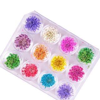 Droog bloemen kleurtjes klein resin art sieraden maken met epoxy hars