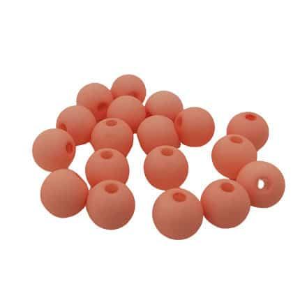 Kralen rond mat cosmatic preach pink 6mm acryl