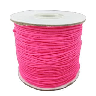 Elastisch draad neon roze 1mm dik elastiek