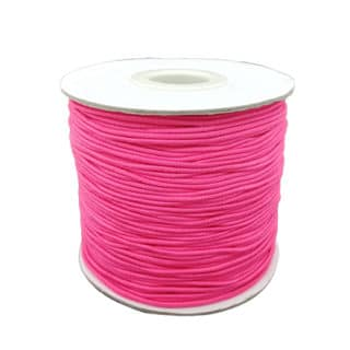 Fluor roze sieraden koord elastisch 1mm