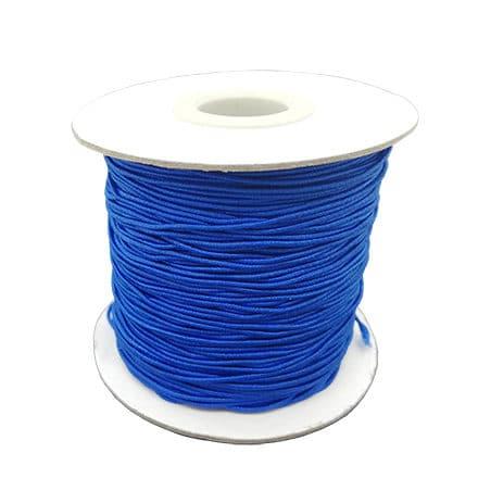 Elastisch sieraden draad kobalt blauw elastiek 0.8mm