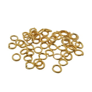 Sieraden buigringetje rond goud 4mm klein