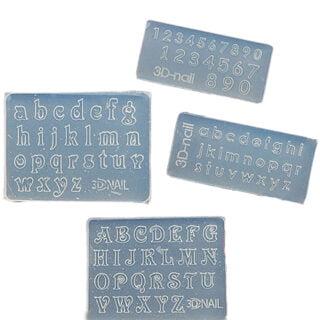 Mini alfabet silicone malletjes sieraden maken