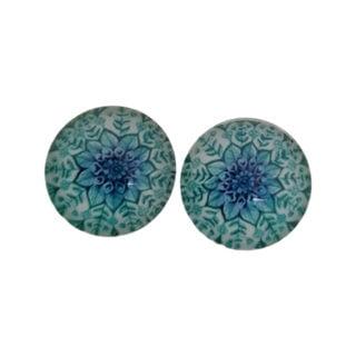 Cabochons glas blauw werkje