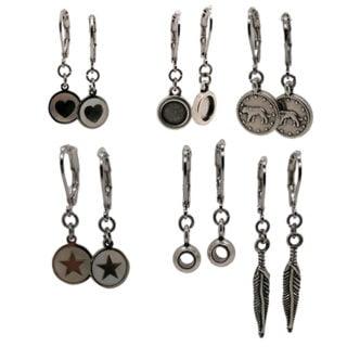Zelf oorbellen maken pakket zilver stainless steel