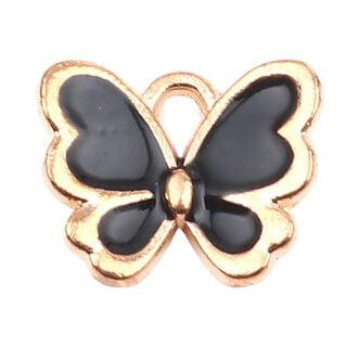Vlinder bedel goud zwart