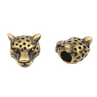 Luipaard leopard kralen groot rijg gat brozen kleur