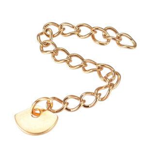 Verlengstukje voor armband of ketting goud stainless steel