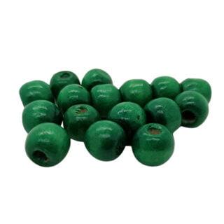 Kraal hout rond 12mm groen