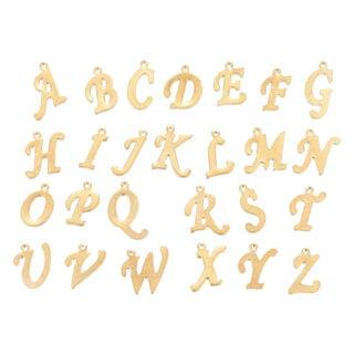 RVS letters bedel goud sierlijk alfabet