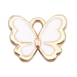 Vlinder bedel goud wit metaal nikkelvrij