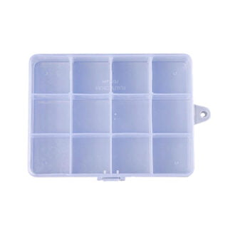 Assortidoos 12 vakjes transparant voor kraaltjes