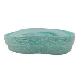 Elastiek lint 10mm breed licht turquoise blauw