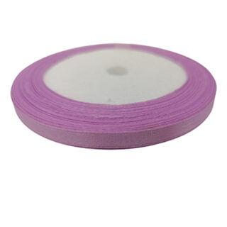 Satijnen lint paars roze 6mm rolletjes