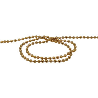 RVS ball chains goud 2.4mm bolletjes